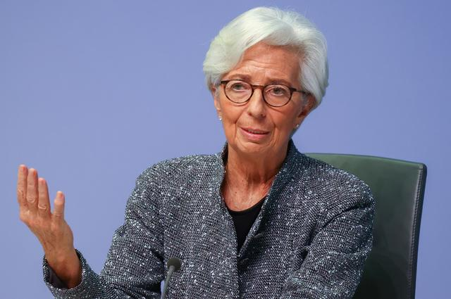 FILE PHOTO: European Central Bank (ECB) President Christine Lagarde gestures as she addresses a news conference on the outcome of the meeting of the Governing Council, in Frankfurt, Germany, March 12, 2020. REUTERS/Kai Pfaffenbach/File Photo/File Photo