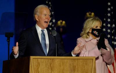 Biden's election night rally