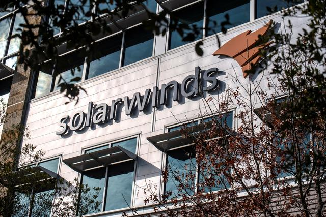 FILE PHOTO: The SolarWinds headquarters are seen in Austin, Texas, U.S., December 18, 2020. REUTERS/Sergio Flores