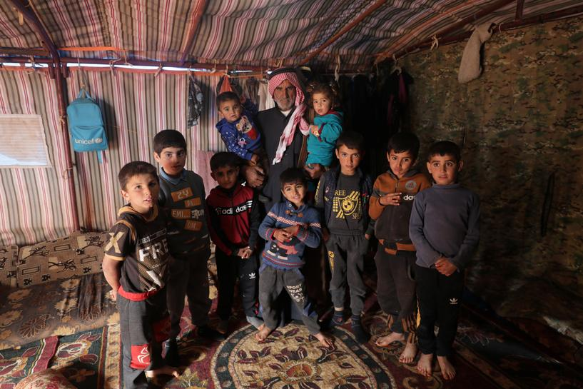 Syrian Farmer Lost Wife and 13 sons to Civil War; his Grandchildren are his Solace