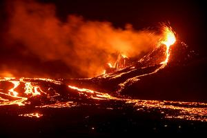Sleeping volcano awakens with show of lava in Iceland