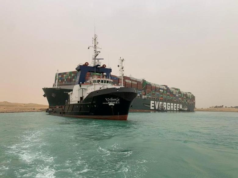 Giant Container Ship Blocking Suez Canal is 'Free' After Nearly a Week