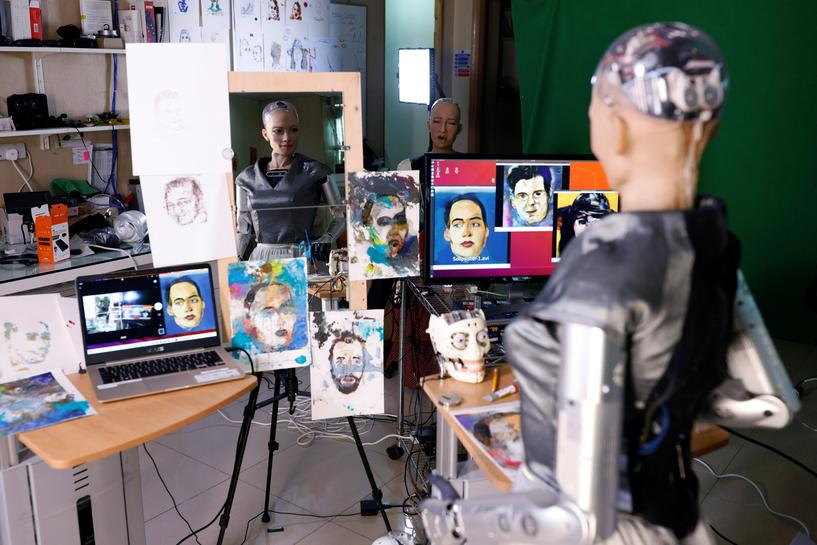NFT artwork by humanoid robot sells at auction for nearly $700,000 | Reuters