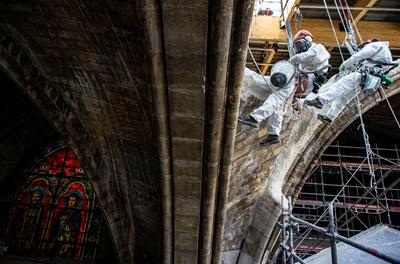 Rebuilding the fire-damaged Notre-Dame Cathedral