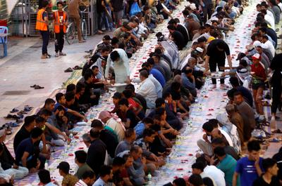 The holy month of Ramadan