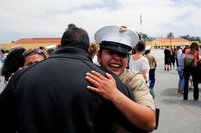 First women graduate as U.S. Marines from San Diego recruit depot