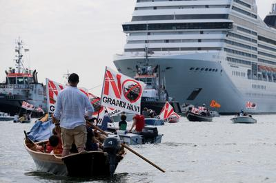 Venice protests first post-COVID cruise ship as tourism returns