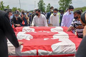 Farewell for Canadian Muslim family killed in truck attack