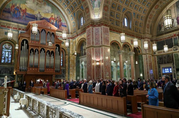 FILE PHOTO: President-elect Joe Biden attends a church service before his...