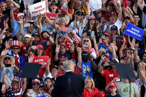 Trump hosts first rally since leaving White House