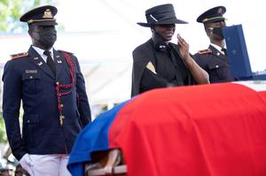 Haiti's murdered president laid to rest as tensions flare