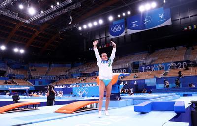 At 46, gymnast Chusovitina bids farewell, again, after eighth Games