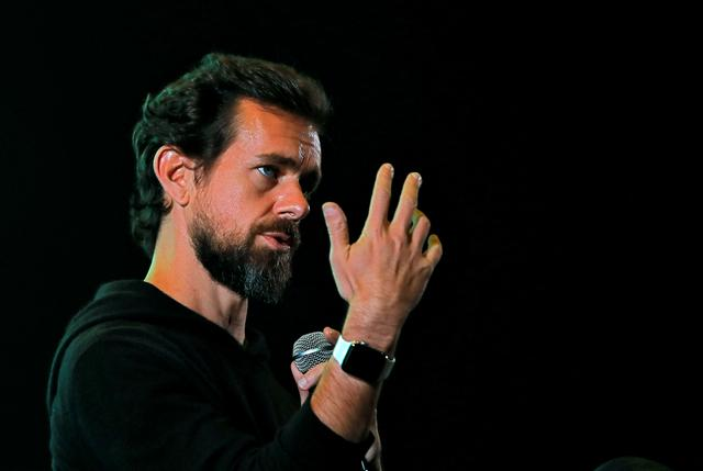 FILE PHOTO: Twitter CEO Jack Dorsey addresses students during a town hall at the Indian Institute of Technology (IIT) in New Delhi, India, November 12, 2018. REUTERS/Anushree Fadnavis/File Photo