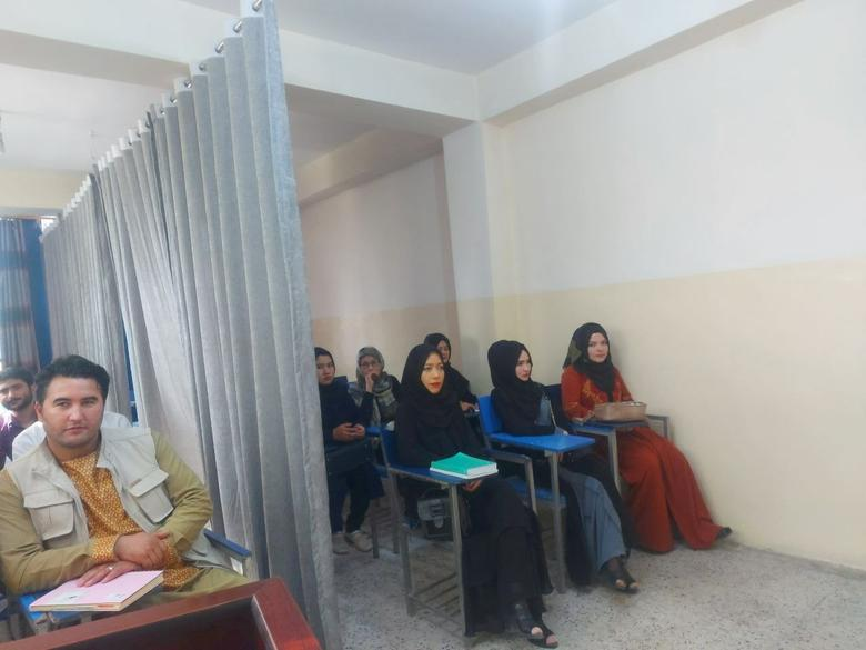 Females separated from their male peers in Kabul classroom | Reuters.com