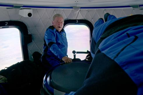 In pictures: William Shatner launches into space on Blue Origin rocket