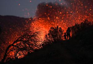 No end in sight: Stunning images from the month-long eruption of Spain's La Palma volcano